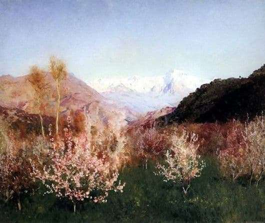 Description of the painting by Isaac Levitan Spring in Italy