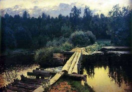 Description of the painting by Isaac Levitan At the pool