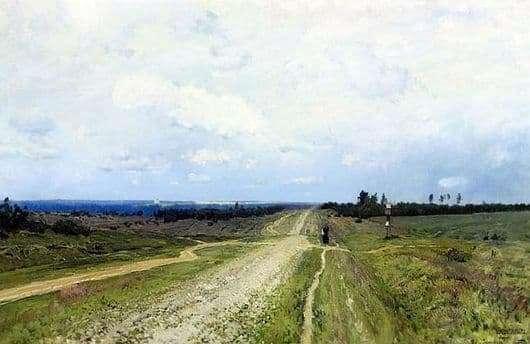 Description of the painting by Isaac Levitan Vladimirka