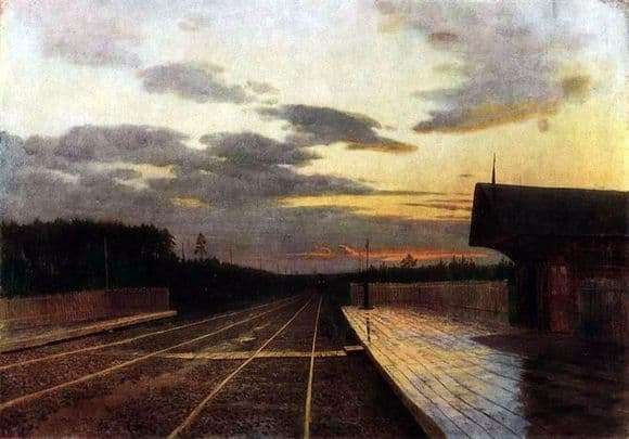 Description of the painting by Isaac Levitan Evening after the rain
