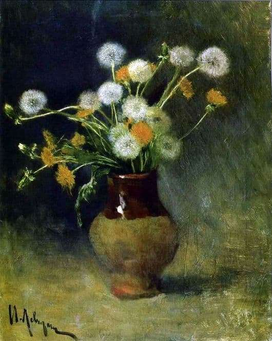Description of the painting by Isaac Levitan Dandelions