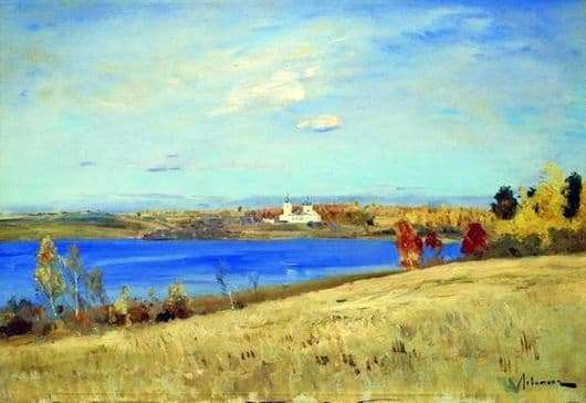 Description of the painting by Isaac Levitan Autumn. River