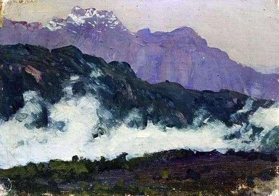 Description of the painting by Isaac Levitan Alps