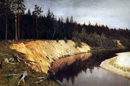 Description of the painting by Isaac Levitan Wooded Coast