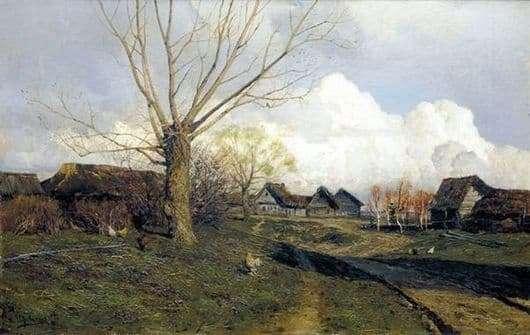 Description of the painting by Isaac Levitan Savvinskaya Sloboda near Zvenigorod