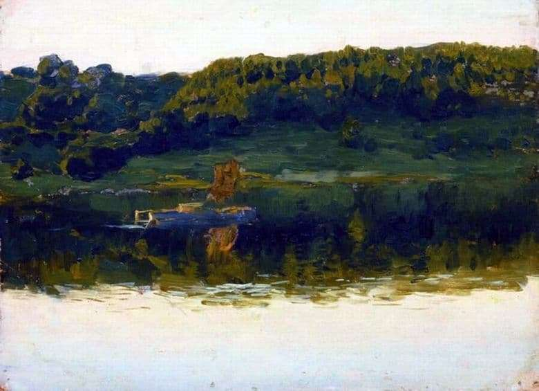 Description of the painting by Isaac Levitan On the Volga (1888)