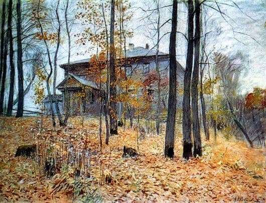 Description of the painting by Isaac Levitan Autumn. Manor