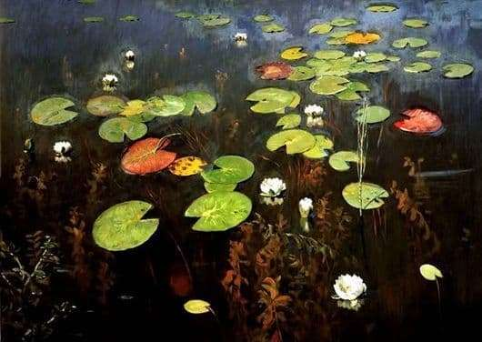 Description of the painting by Isaac Levitan Nenuphars (Water lilies)