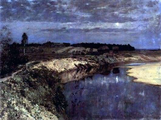 Description of the painting by Isaac Levitan Silence