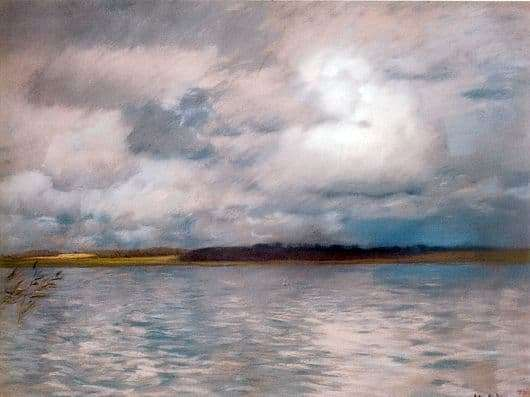Description of the painting by Isaac Levitan Gloomy Day