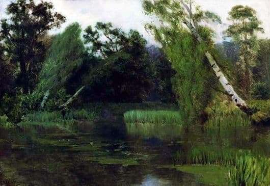 Description of the painting by Isaac Levitan In the Park