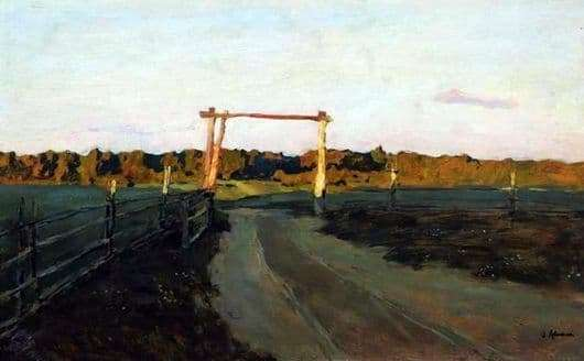 Description of the painting by Isaac Levitan Summer evening