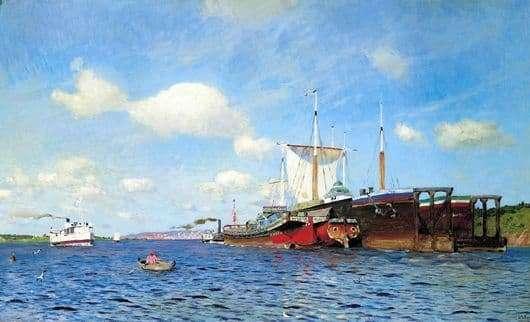 Description Paintings Isaac Levitan Fresh Wind Volga