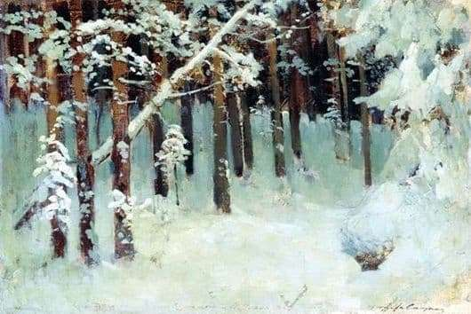 Description of the painting by Isaac Levitan Forest in winter