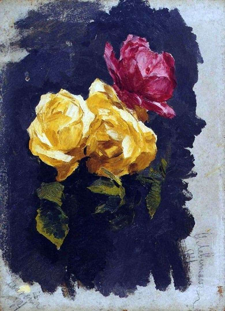 Description of the painting by Isaac Levitan Roses (1894)