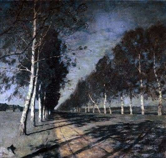 Description of the painting by Isaac Levitan Moonlit Night