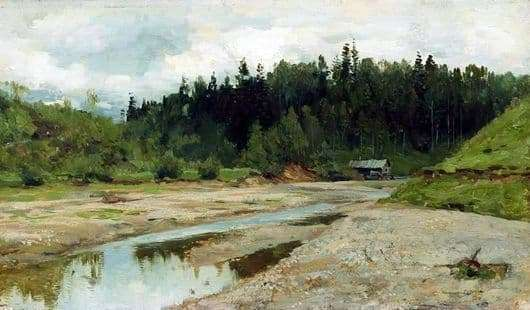 Description of the painting by Isaac Levitan River in the forest
