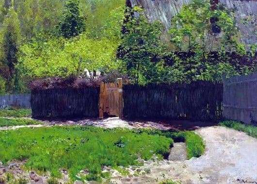 Description of the painting by Isaac Levitan The first green. May