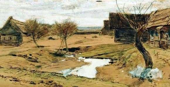 Description of the painting by Isaac Levitan Spring has come