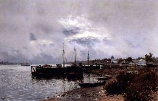 Description of the painting by Isaac Levitan After the rain. Ples