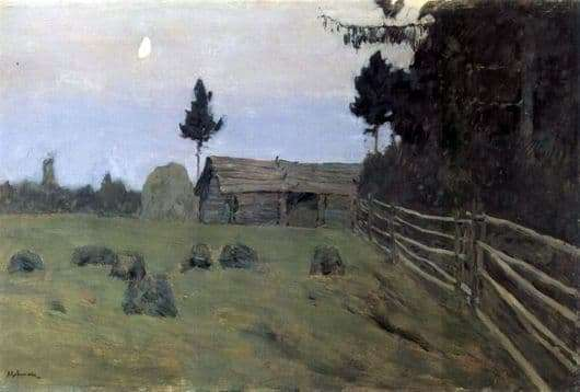 Description of the painting by Isaac Levitan Twilight