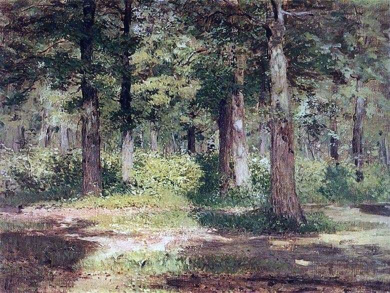 Description of the painting by Isaac Levitan Forest. Sunny day
