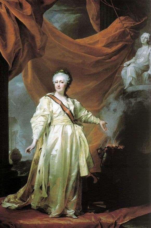 Description of the painting by Dmitry Levitsky Portrait of Catherine 2