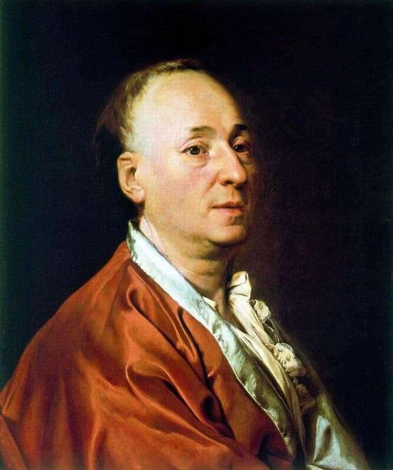 Description of the painting by Dmitry Levitsky Portrait of Denis Didro (1773)
