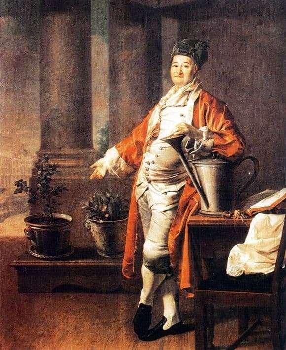 Description of the painting by Dmitry Levitsky Portrait of Demidov