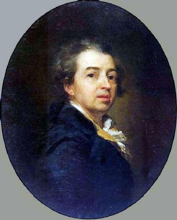 Description of the painting by Dmitry Levitsky Self portrait