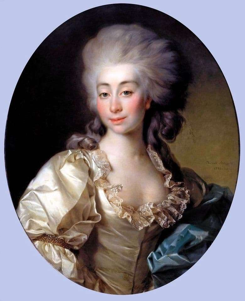 Description of the painting by Dmitry Levitsky Portrait of Ursula Mnishek