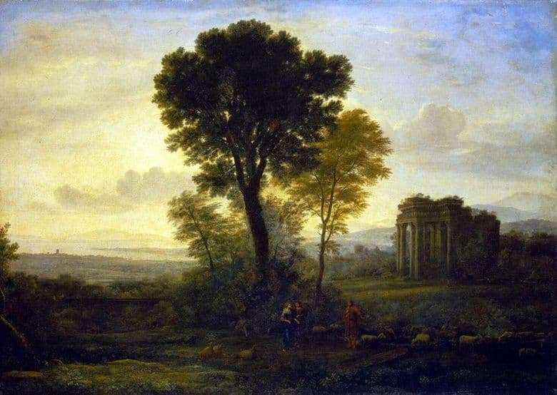 Description of the painting by Claude Lorrain Morning