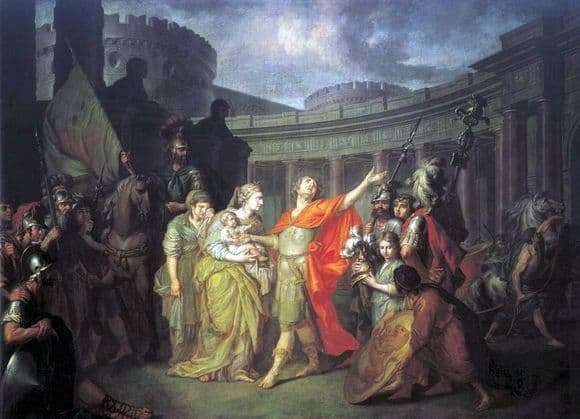 Description of the painting by Anton Losenko Hectors Farewell to Andromache
