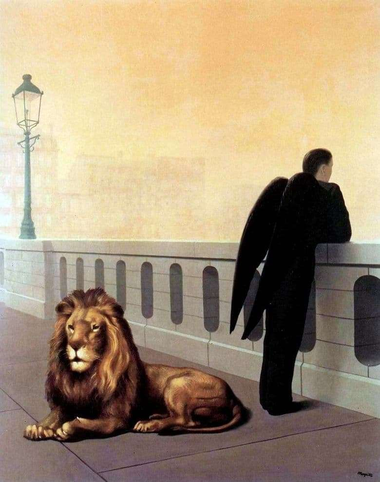 Description of the painting by Rene Magritte Nostalgia
