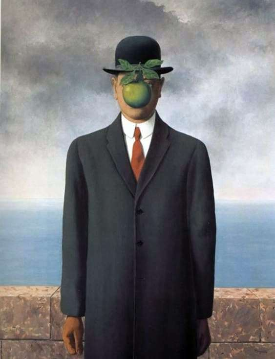 Description of the painting by René Magritte Son of man