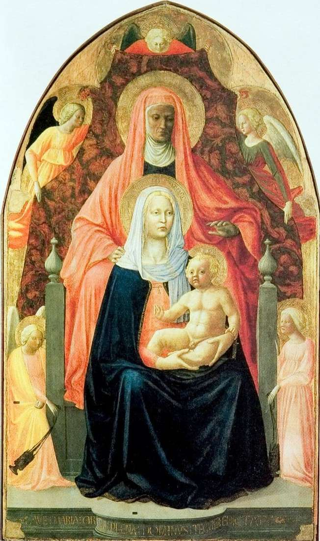 Description of the painting by Masaccio St. Anna with the Madonna and Baby