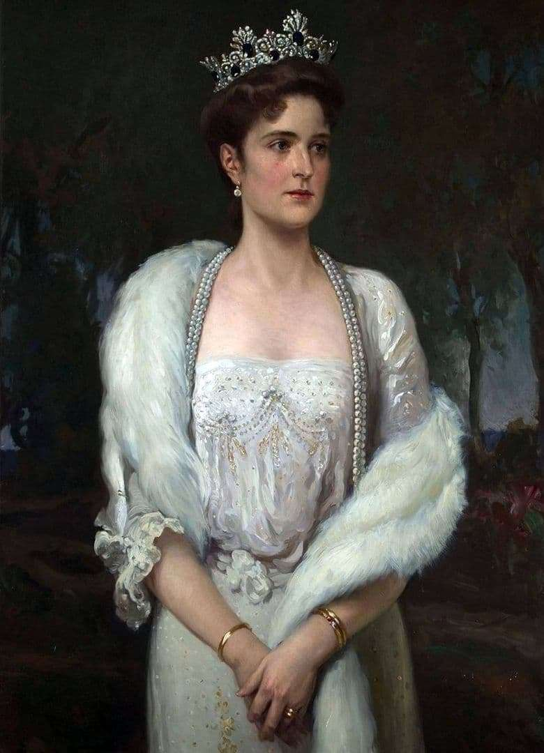 Description of the painting by Alexander Makovsky Portrait of Empress Alexandra Fedorovna