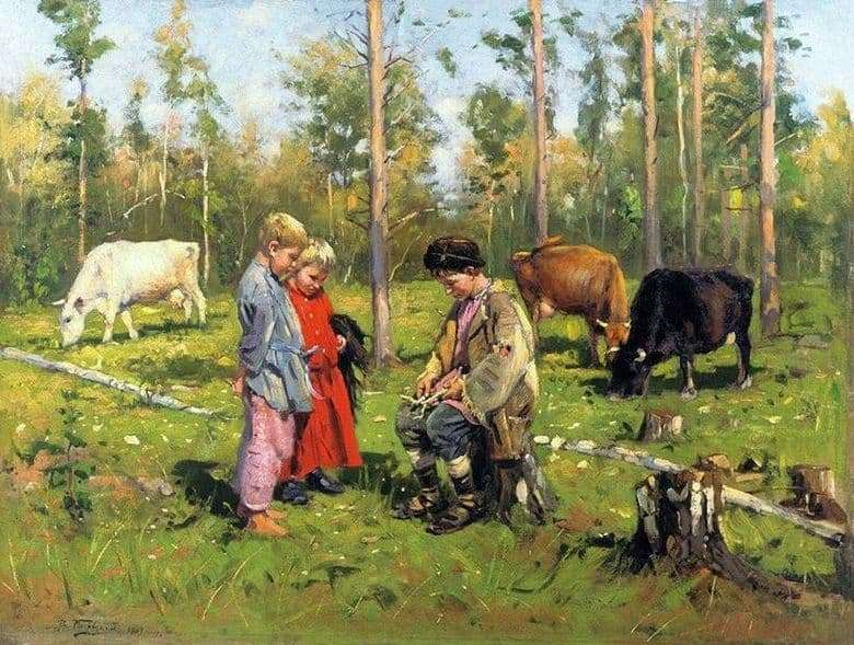 Description of the painting by Vladimir Makovsky Shepherd