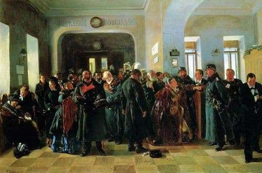 Description of the painting by Vladimir Makovsky The collapse of the bank