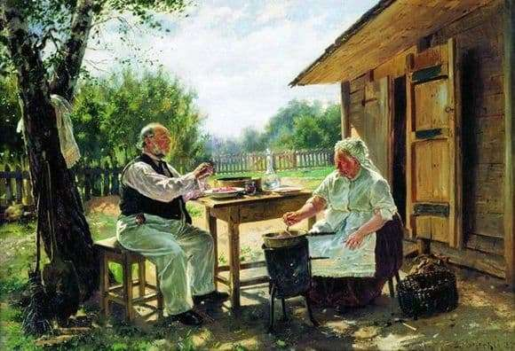 Description of the painting by Vladimir Makovsky Cook jam