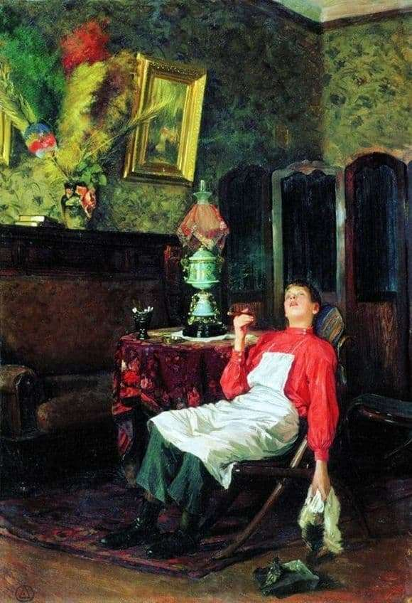 Description of the painting by Vladimir Makovsky Without a master