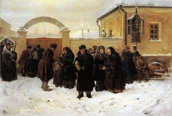 Description of the painting by Vladimir Makovsky Waiting at the fortress