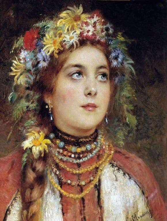 Description of the painting by Vladimir Makovsky Russian Beauty