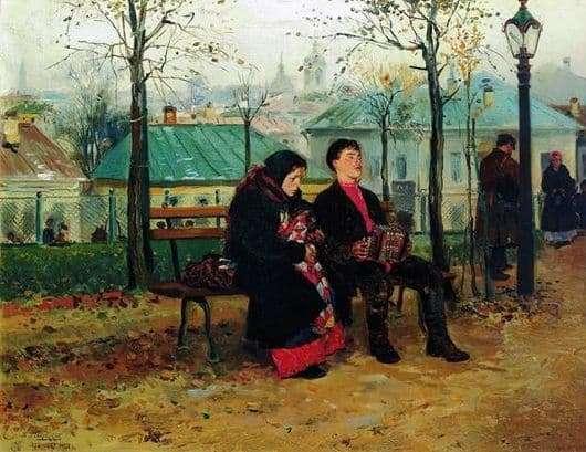 Description of the painting by Vladimir Makovsky On the boulevard