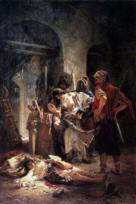 Description of the painting by Vladimir Makovsky Bulgarian martyrs
