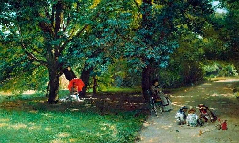 Description of the painting by Konstantin Makovsky In the Park