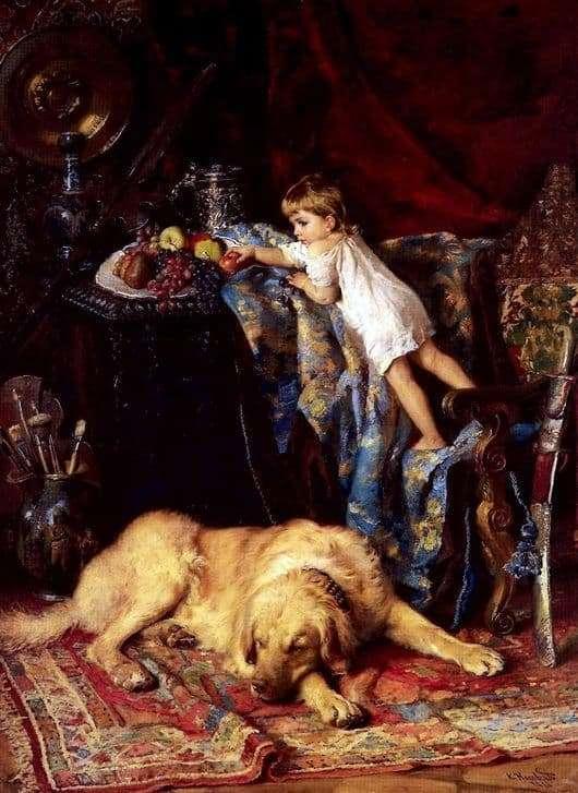 Description of the painting by Konstantin Makovsky In the artists studio