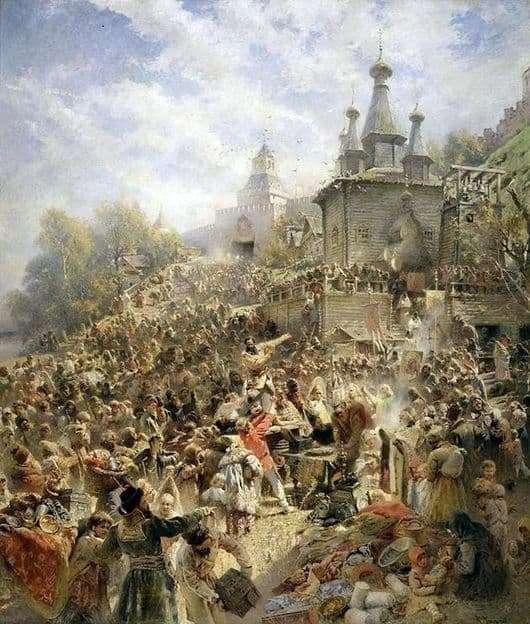Description of the painting by Konstantin Makovsky The appeal of Minin to the citizens of Nizhny Novgorod