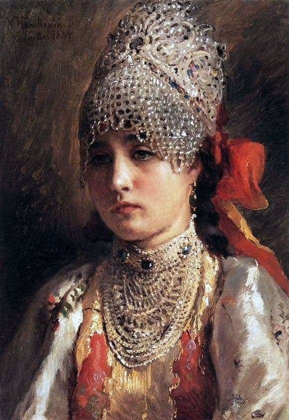 Description of the painting by Konstantin Makovsky Boyar