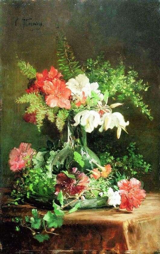 Description of the painting by Konstantin Makovsky Still Life
